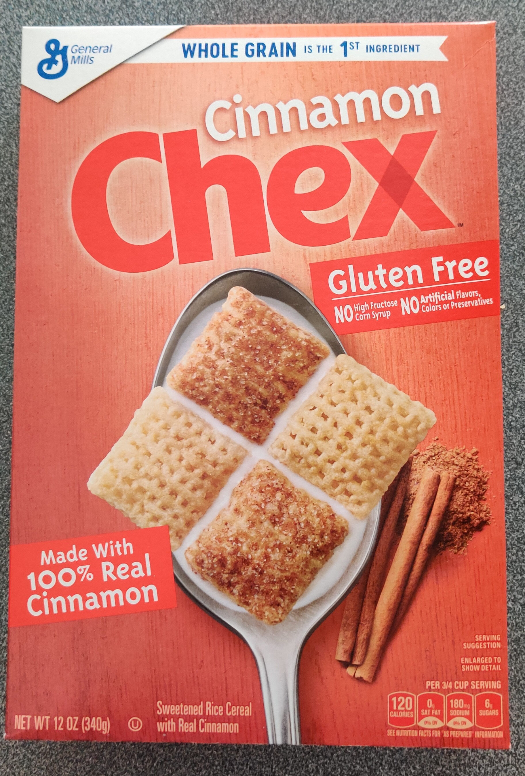 Cinnamon sweetened rice cereal - Product