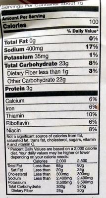 Gold Medal Self-Rising Flour - Nutrition facts - en
