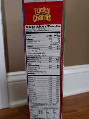Lucky Charms - Información nutricional - en