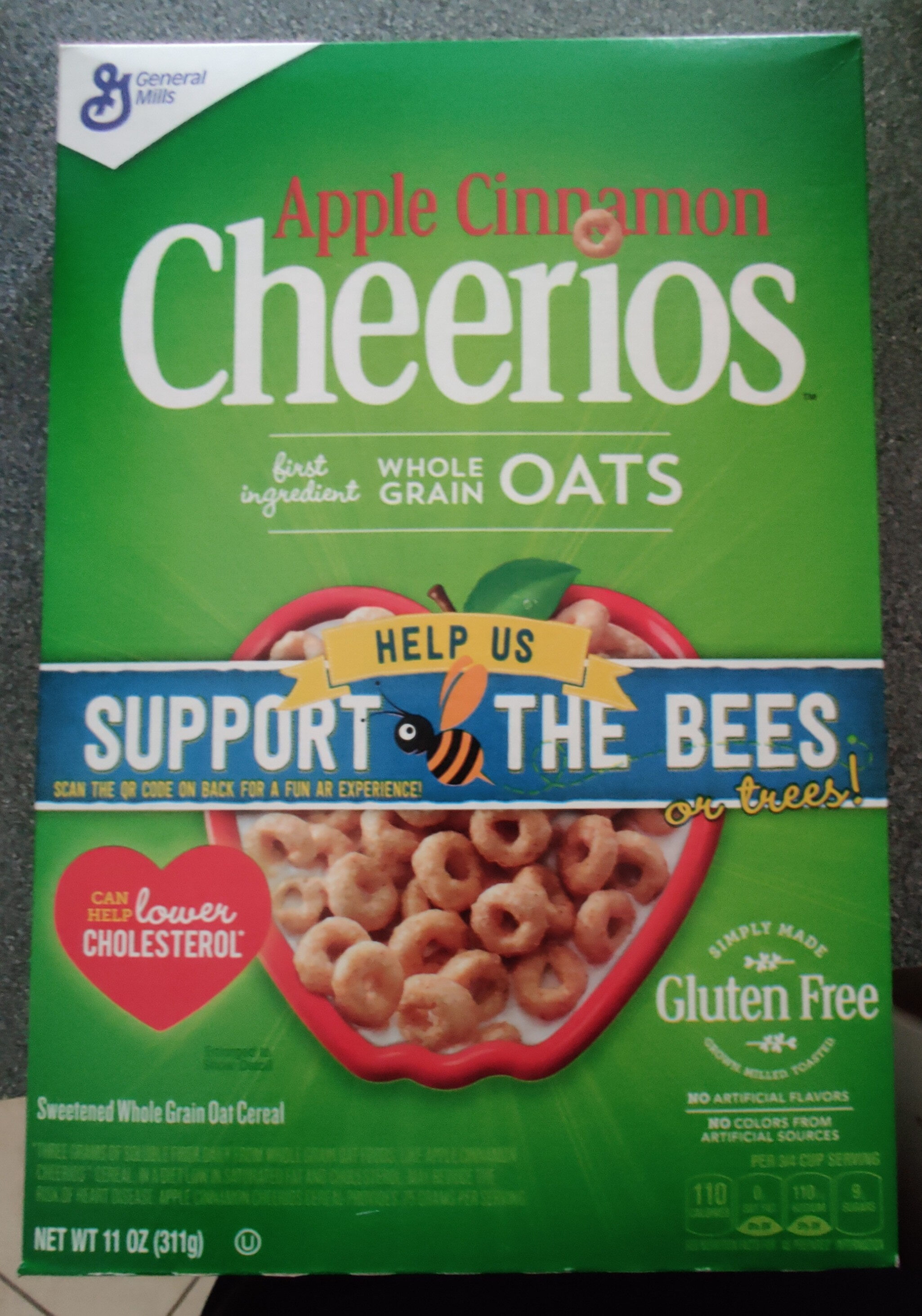 Apple Cinnamon Cheerios Cereal - Product - en