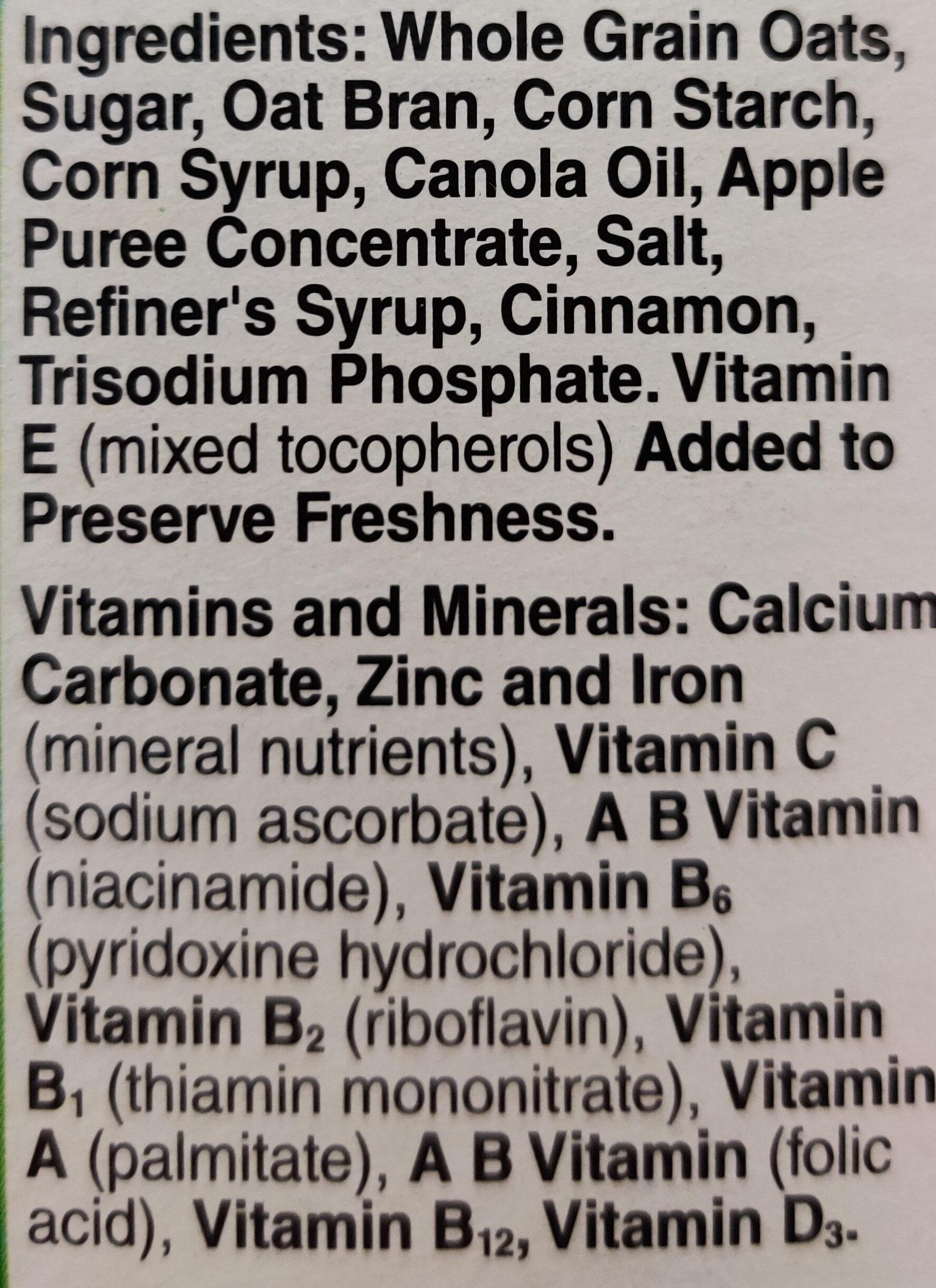 Apple Cinnamon Cheerios - Ingredients