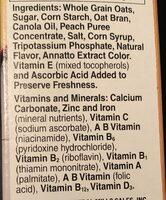 Peach Cheerios Cereal - Ingrédients - en