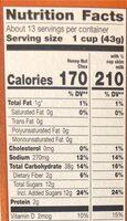 Honey nut chex - Voedingswaarden - en