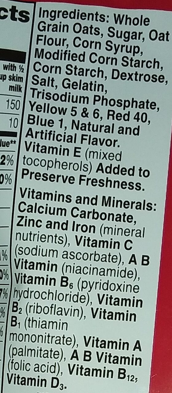 Lucky charms - Ingredients - en