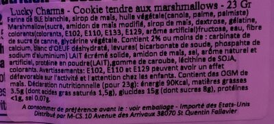 Lucky Charms Soft Baked Treats - Nutrition facts - en