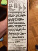 Chocolate flavored whole grain oat cereal - Ingredients - en