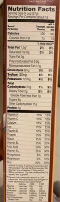 Cheerios Cereal Chocolate - Nutrition facts - en