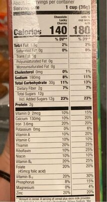 Chocolate whole grain cereal with marshmallows - Nutrition facts - en