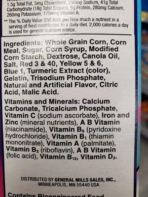 Trix with marshmallow - Ingredients - en