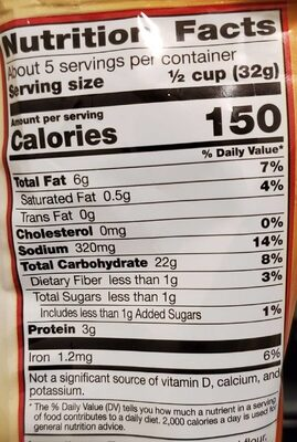 Gardetto'S Original Recipe Snack Mix - Nutrition facts - en