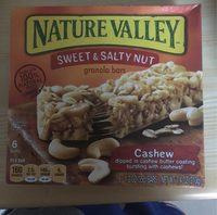 Nature Valley Sweet & Salty Nut Cashew Granola Bars - Product