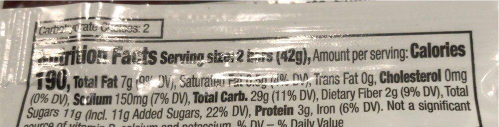 Crunchy Cinnamon Granola Bar - Nutrition facts - en