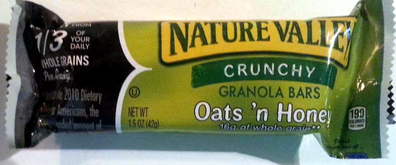 Crunchy Granola Bars Oats 'n Honey - Nature Valley - 1.5 OZ (42 g)