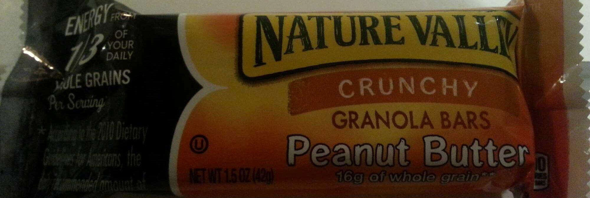 Crunchy Peanut Butter Granola Bar - Product - en