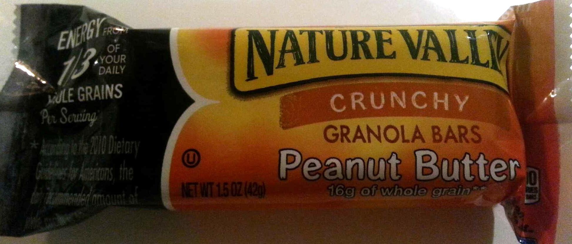 Crunchy Peanut Butter Granola Bars - Product - en