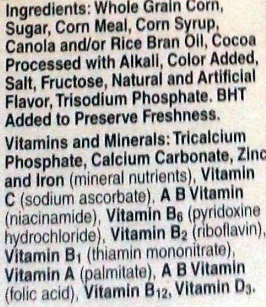 Cocoa Puffs - Ingredients - en
