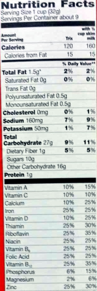 Fruit flavored sweetened corn puffs - Nutrition facts - en