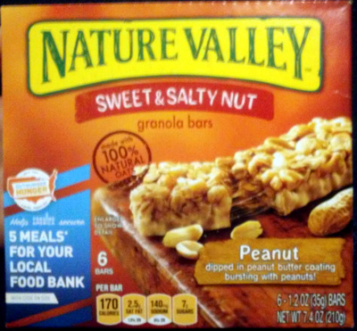 Nature Valley Peanut Sweet and Salty granola bars - Product
