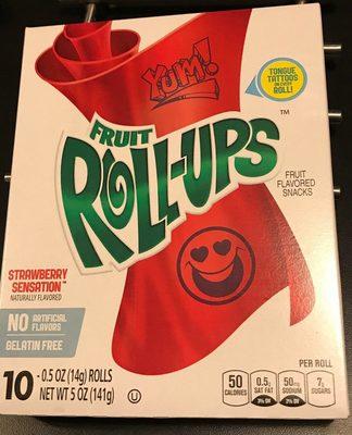 Betty Crocker Fruit Roll-ups Strawberry - 10 CT - Product - en