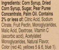 Betty Crocker Fruit Roll-ups Strawberry - 10 CT - Ingredients - en