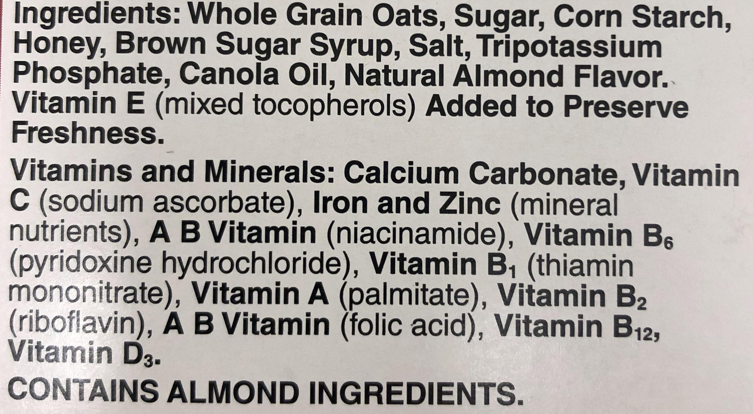 Honey Nut Cheerios - Ingredients