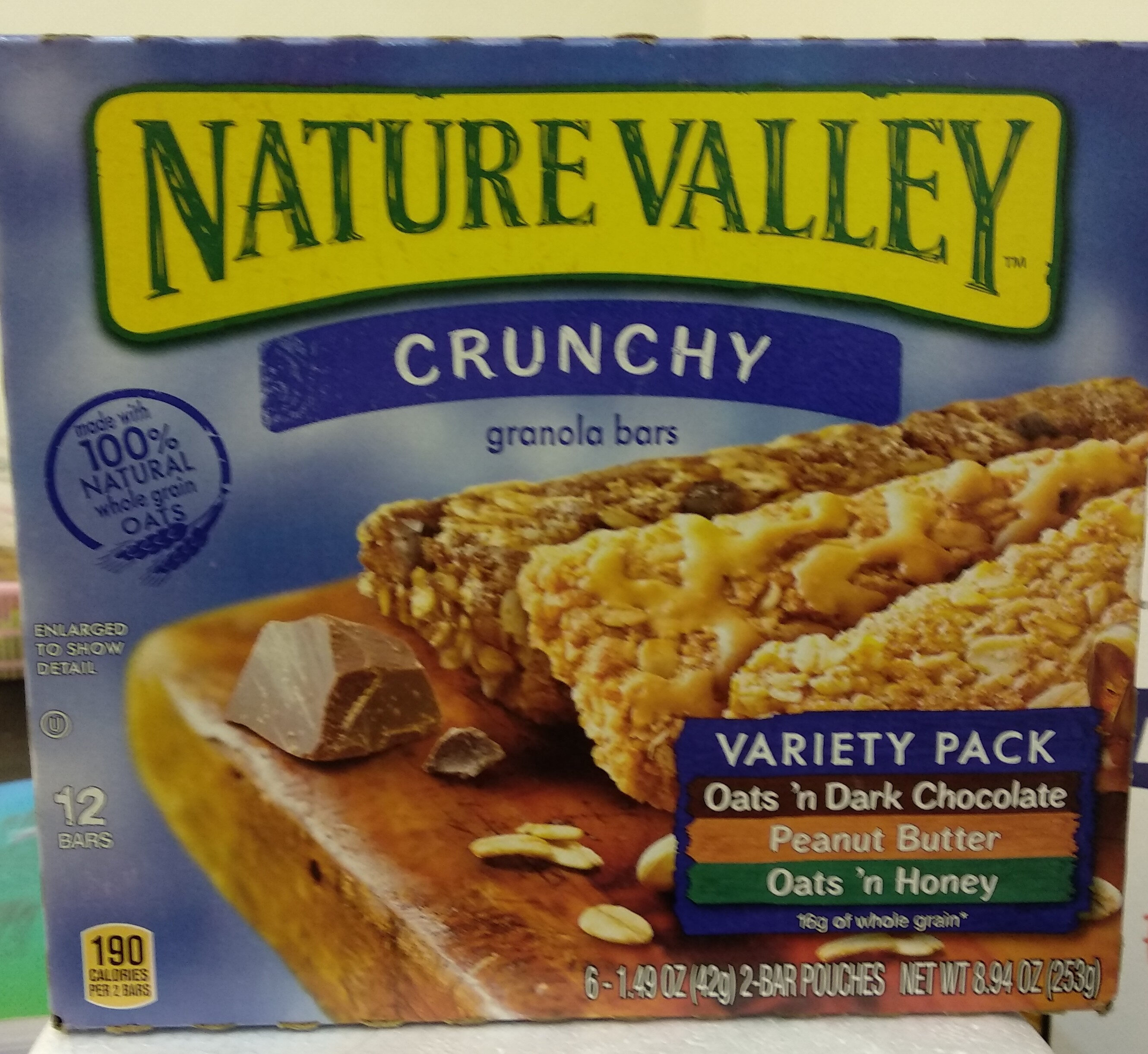 Nature Valley Crunchy Granola Bars Variety Pack - 6 CT - Product - fr