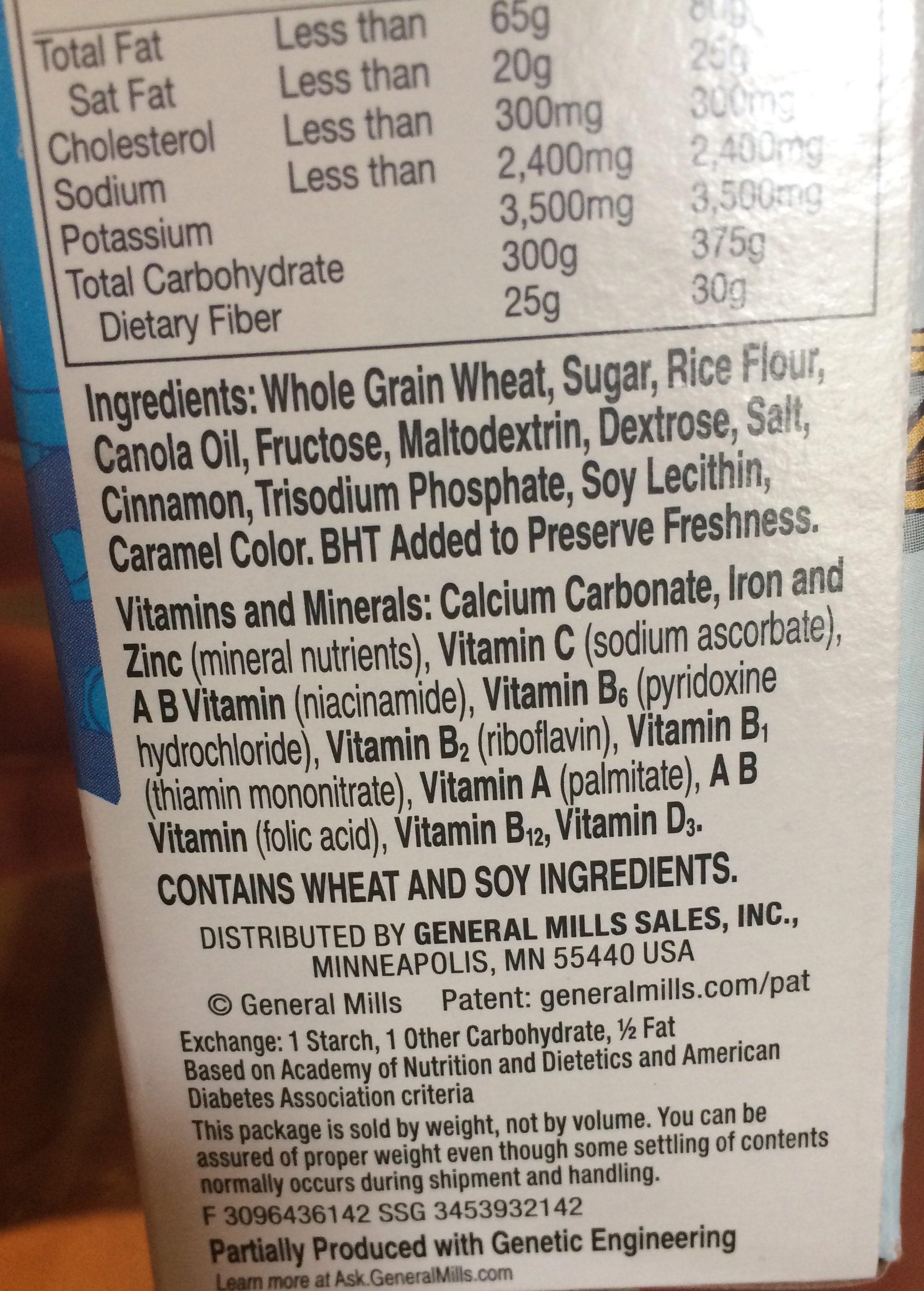 Cinnamon Toast Crunch - Ingredientes
