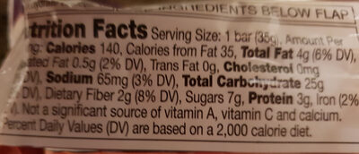 Nature Valley Trail Mix Fruit & Nut Chewy Granola Bar - Nutrition facts - en