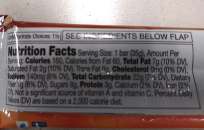 Nature Valley Sweet & Salty Nut Almond Granola Bar - Nutrition facts