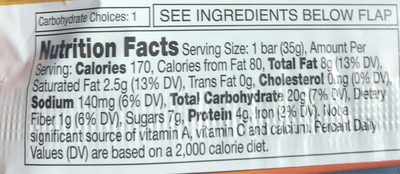 Nature Valley Sweet & Salty Nut Peanut Granola Bar - Informations nutritionnelles - fr