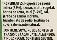 Barras de granola con avena y miel - Ingrediënten - es