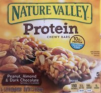 Nature Valley Protein Peanut, Almond & Dark Chocolate Chewy Bars - 5 CT - Product