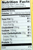 Soft Baked Oatmeal Squares Cinnamon Brown Sugar - Nutrition facts - en
