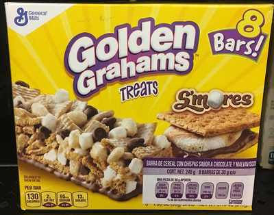 Treats bar golden grahams treats chocolate marshmallow - 2