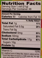 Fruit by the Foot - Nutrition facts