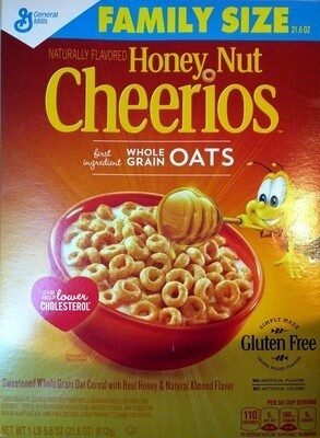 Honey nut sweetened whole grain oat cereal with - Product - en