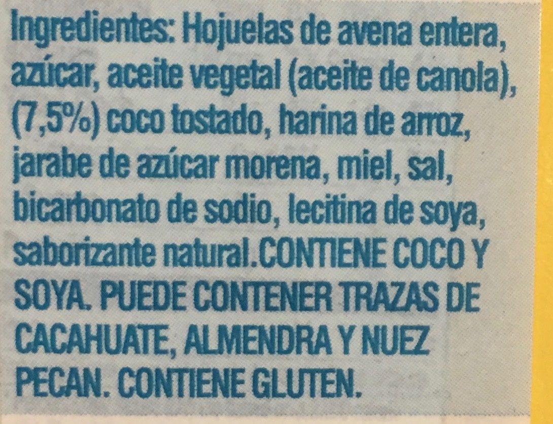 Crunchy - Ingrediënten - es