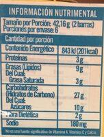 Crunchy - Voedingswaarden - es
