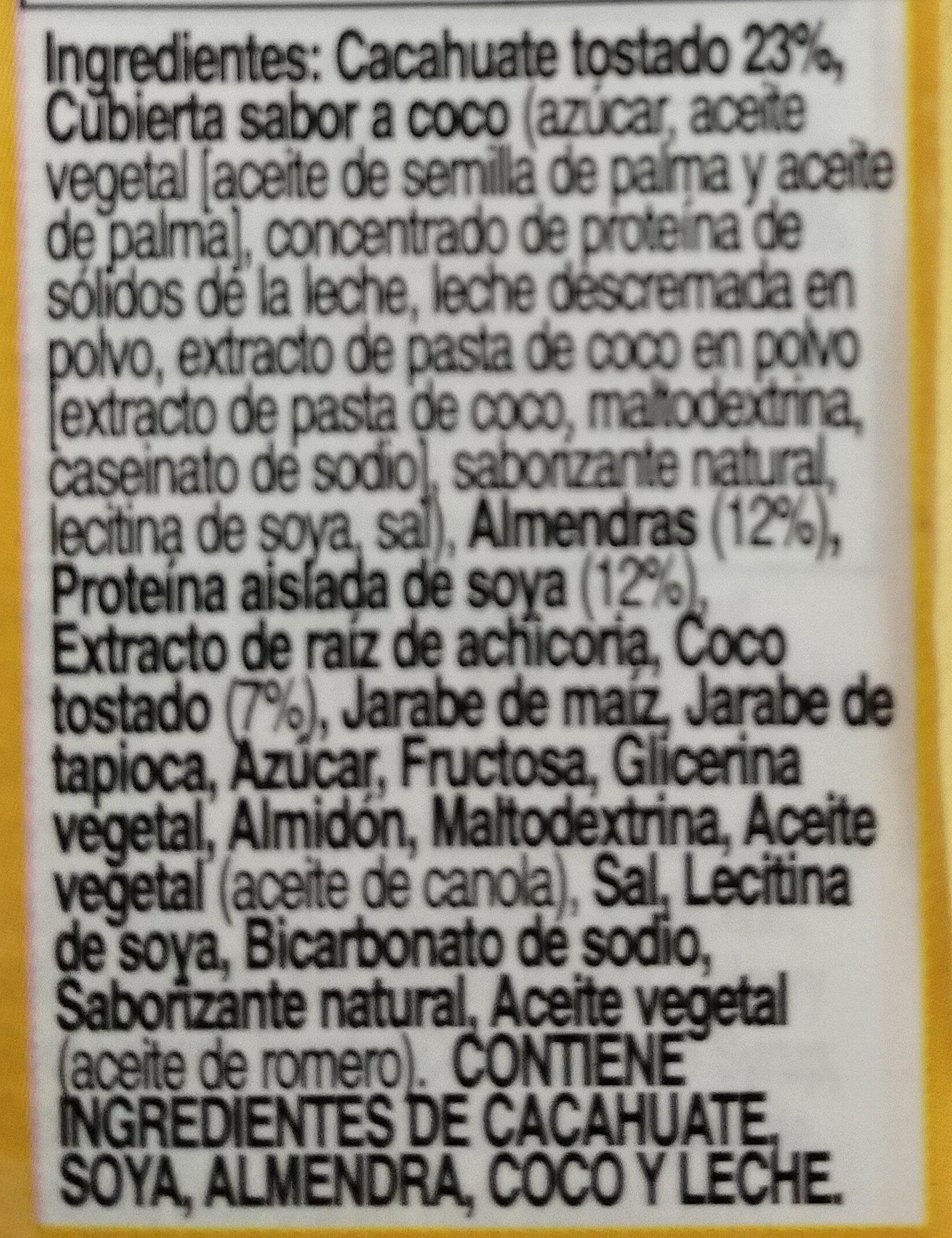 Chewy granola bar - Ingredientes - en