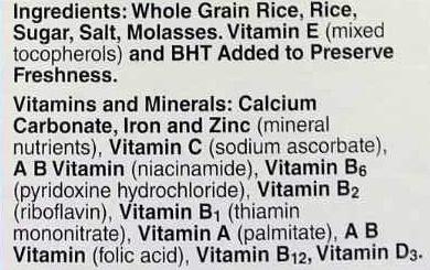 General mills rice gluten free - Ingredients - en