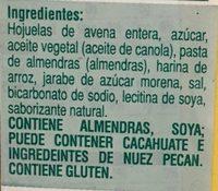 Crunchy almond butter granola bars - Ingrediënten - es