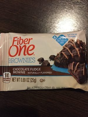Fiber One 90 Calorie Chocolate Fudge Brownie - Product