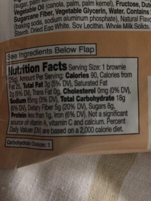 Fiber One 70 Calorie Chocolate Fudge Brownie - Información nutricional - es