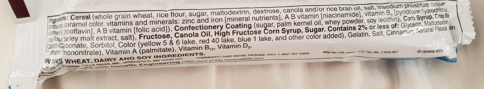 cinnamon toast crunch treats - Ingredients