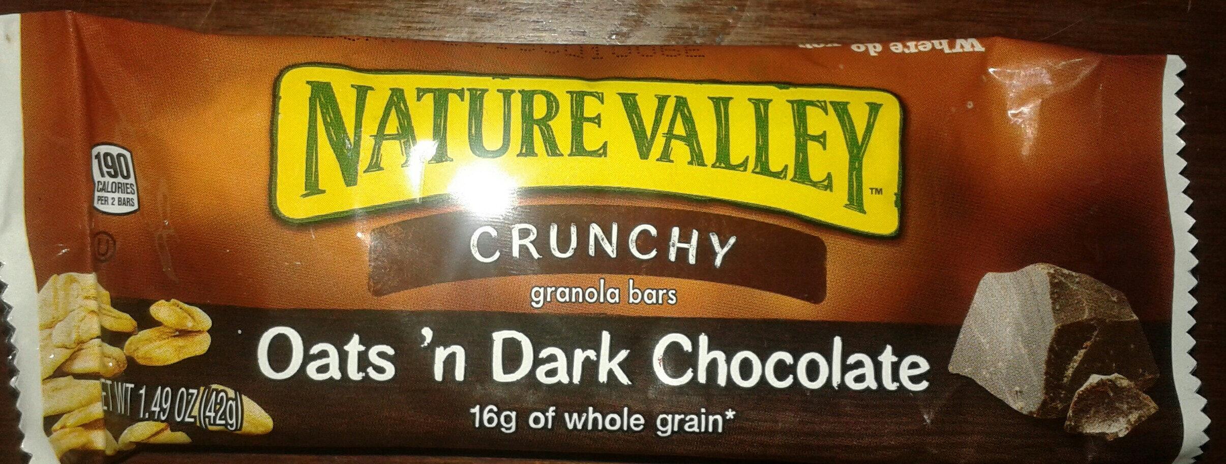 Nature Valley Crunchy Oats 'n Dark Chocolate Granola Bar - Produit - fr