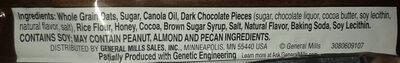 Nature Valley Crunchy Oats 'n Dark Chocolate Granola Bar - Ingrédients - fr