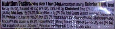 Cinnamon Toast Crunch Treat Bar - Nährwertangaben