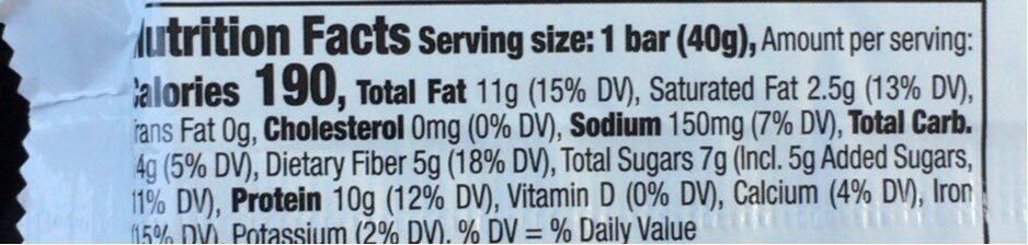 Peanut & Almond Chewy Bar - Nutrition facts - en