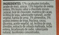 Barres de granola Sweet & Salty nut - Ingredientes - fr