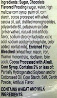 Supreme Frosted Brownie Mix - Ingredients